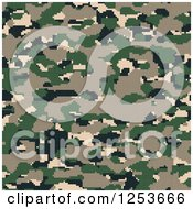 Clipart Of A Seamless Green Tan And Brown Desert Digital Camouflage Background Royalty Free Illustration