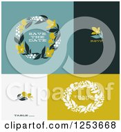 Clipart Of Wedding Save The Date Thank You And RSVP Designs Royalty Free Vector Illustration by elena