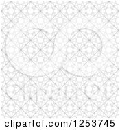 Clipart Of A Geometric Pattern Background Royalty Free Vector Illustration by vectorace