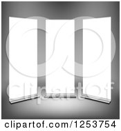 Clipart Of A 3d Bright Roll Up Panels Royalty Free Vector Illustration