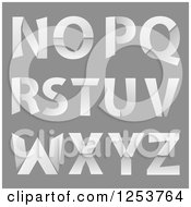 Clipart Of Capital Folded Paper Alphabet Letters N Through Z Royalty Free Vector Illustration by vectorace