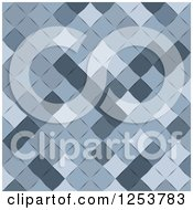 Clipart Of A Seamless Background Of Blue Squares Royalty Free Vector Illustration by vectorace