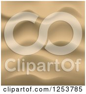 Clipart Of A Gold Rippled Sand Background Royalty Free Vector Illustration