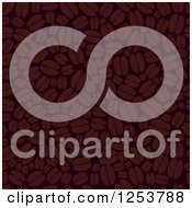 Clipart Of A Seamless Background Of Coffee Beans Royalty Free Vector Illustration