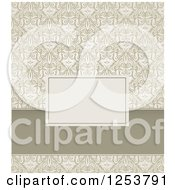 Clipart Of A Vintage Damask Invitation Design Royalty Free Vector Illustration