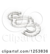 Clipart Of A 3d Fence Section Sign Royalty Free Illustration