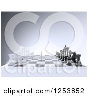 3d Man On A Chess Board
