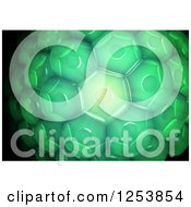 Clipart Of A 3d Green Plant Cell Background Royalty Free Illustration