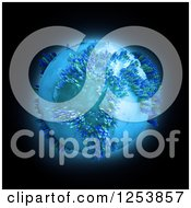 Clipart Of A 3d Earth With People Over Black Royalty Free Illustration