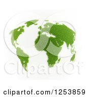 3d Grassy Globe On White