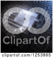 Clipart Of A 3d Businessman In A Maze Royalty Free Illustration