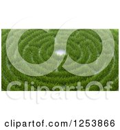Clipart Of A 3d Grassy Maze Royalty Free Illustration by Mopic