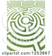 Clipart Of A 3d Copyright Symbol Grass Maze Royalty Free Illustration by Mopic