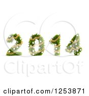 Clipart Of A 3d Christmas Tree 2014 Royalty Free Illustration by Mopic