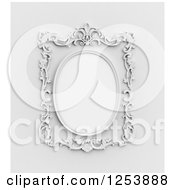 Clipart Of A 3d Ornate Vintage Wall Frame Royalty Free Illustration