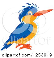 Clipart Of A Kingfisher Bird Royalty Free Vector Illustration by Alex Bannykh