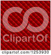 Clipart Of A Seamless Red Upholstery Background Royalty Free Illustration