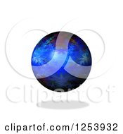 Clipart Of A 3d Fractal Sphere And Shadow On White Royalty Free Vector Illustration