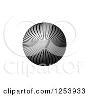 Clipart Of A 3d Gray Lined Sphere On White Royalty Free Vector Illustration