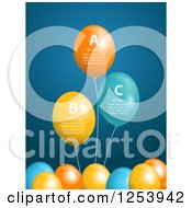 Background Of Infographic Party Balloons With Sample Text