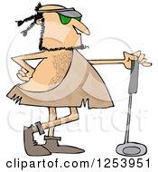 Caveman Golfer With A Club