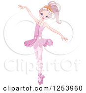 Clipart Of A Beautiful Ballerina Dancing In Pink Royalty Free Vector Illustration by Pushkin