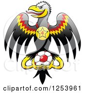 German Eagle With A Medal And Soccer Ball