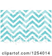Clipart Of A Background Of Glittering White And Blue Chevrons Royalty Free Vector Illustration