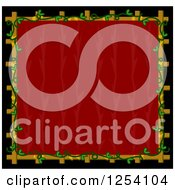 Red Background With A Floral Frame