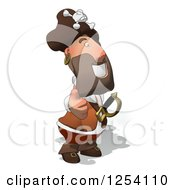 Clipart Of A Happy Male Pirate Holding A Thumb Up 2 Royalty Free Illustration