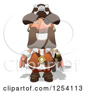 Clipart Of A Happy Male Pirate Royalty Free Illustration