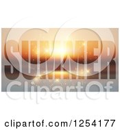 Clipart Of Summer Text With Sparkles Royalty Free Vector Illustration