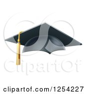 Clipart Of A 3d Mortar Board Graduation Cap Royalty Free Vector Illustration