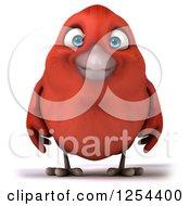 3d Red Bird