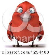 Clipart Of A 3d Red Bird Royalty Free Illustration
