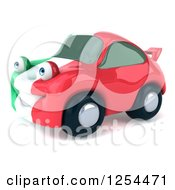 Clipart Of A 3d Italian Flag Porsche Car Character 2 Royalty Free Illustration