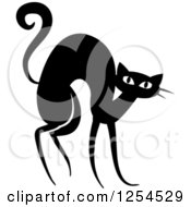 Clipart Of A Black And White Scared Cat Royalty Free Vector Illustration by Vector Tradition SM
