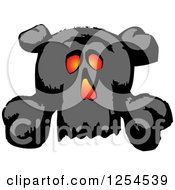 Clipart Of A Glowing Skull And Crossbones Royalty Free Vector Illustration