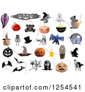 Clipart Of Halloween Items Royalty Free Vector Illustration by Vector Tradition SM