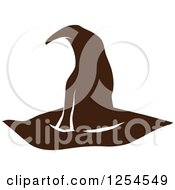 Clipart Of A Brown Witch Hat Royalty Free Vector Illustration