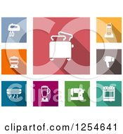 Clipart Of Colorufl Kitchen Appliance Icons Royalty Free Vector Illustration