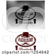 Clipart Of Barbershop Moustache Designs Royalty Free Vector Illustration