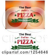 Clipart of the Best Italian Pizza Restaurant Designs - Royalty Free Vector Illustration by Vector Tradition SM