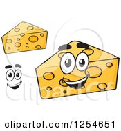 Clipart Of Wedges Of Cheese Royalty Free Vector Illustration