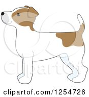 Cartoon Of A Cute Jack Russell Terrier Dog In Profile Royalty Free Vector Clipart by Maria Bell