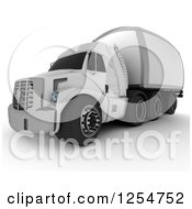Clipart Of A 3d Shipping Truck Royalty Free Illustration
