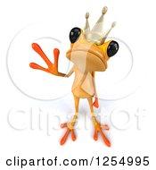 3d Yellow Frog Prince Waving