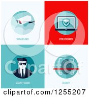 Clipart Of Cyber Security Icons Royalty Free Vector Illustration