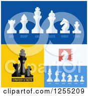 Clipart Of Chess Piece Icons Royalty Free Vector Illustration by elena