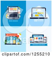 Clipart Of Laptop And Gadget Web Design Icons Royalty Free Vector Illustration